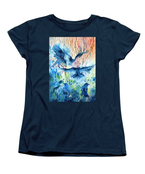 A Conspiracy Of Ravens  Women's T-Shirt (Standard Cut) by Trudi Doyle
