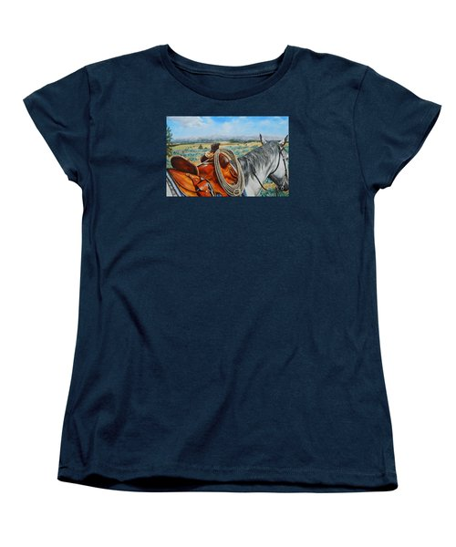 A Cowboy's View Women's T-Shirt (Standard Cut) by Ruanna Sion Shadd a'Dann'l Yoder