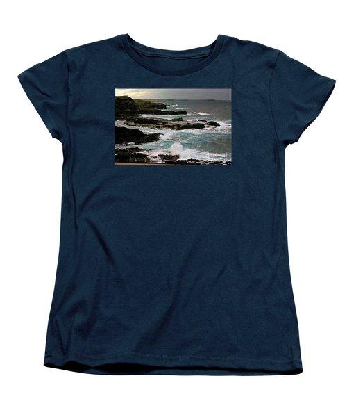 A Dangerous Coastline Women's T-Shirt (Standard Cut) by Blair Stuart