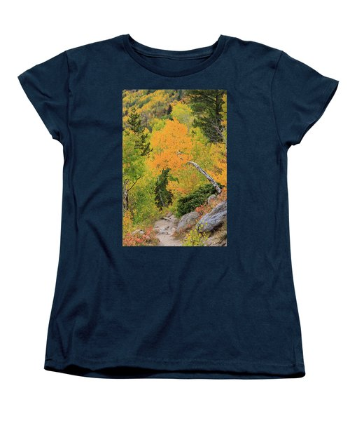Women's T-Shirt (Standard Cut) featuring the photograph Yellow Drop by David Chandler