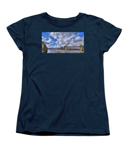 Women's T-Shirt (Standard Cut) featuring the photograph A Dusting Of Snow by David Patterson