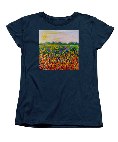 A Field Of Flowers #1 Women's T-Shirt (Standard Cut) by Maxim Komissarchik