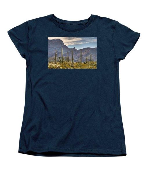 A Forest Of Saguaro Cacti Women's T-Shirt (Standard Cut) by Vivian Christopher