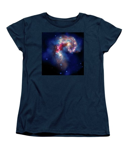 Women's T-Shirt (Standard Cut) featuring the photograph A Galactic Spectacle by Marco Oliveira