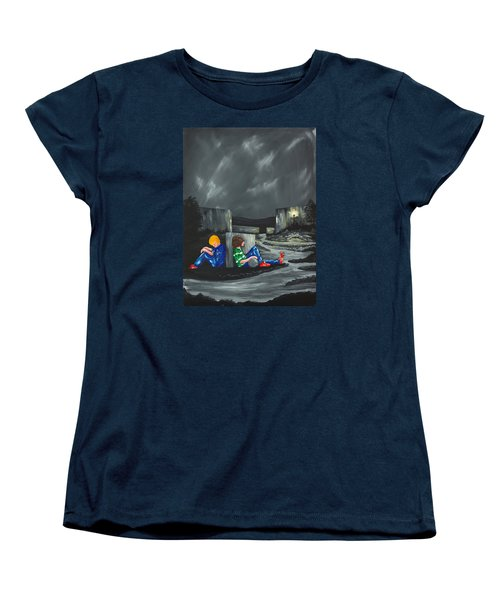 Women's T-Shirt (Standard Cut) featuring the painting A Game Of Two Divides by Scott Wilmot