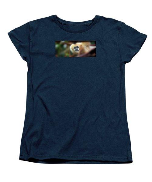 A Gibbon's Stare Women's T-Shirt (Standard Cut) by Greg Slocum