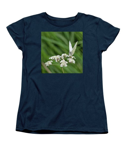 A Green-veined White (pieris Napi) Women's T-Shirt (Standard Cut) by John Edwards