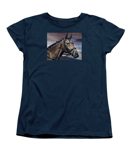 Women's T-Shirt (Standard Cut) featuring the photograph A Horse Called Zi by Brian Tarr