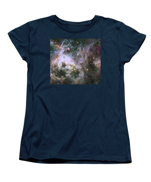 Women's T-Shirt (Standard Cut) featuring the photograph A Hubble Infrared View Of The Tarantula Nebula by Nasa