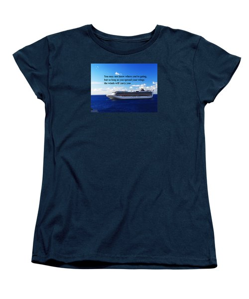 Women's T-Shirt (Standard Cut) featuring the photograph A Life Journey by Gary Wonning