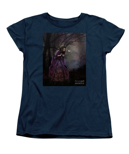 Women's T-Shirt (Standard Cut) featuring the digital art A Little Bird Told Me by Shanina Conway