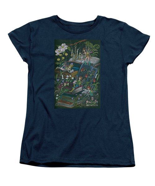 Women's T-Shirt (Standard Cut) featuring the drawing A Little Light To Read By by Dawn Fairies
