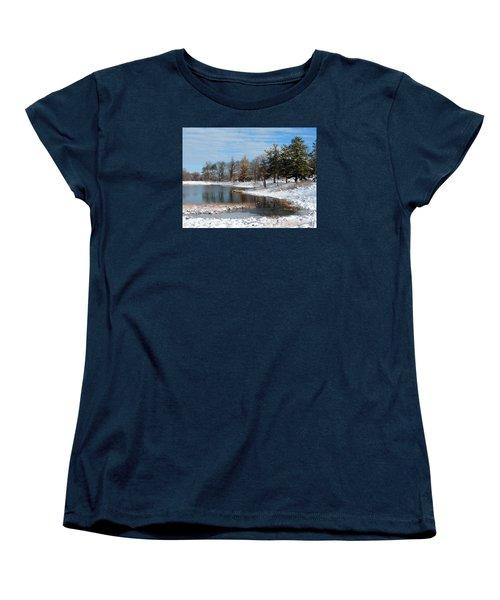A Mild Winter Morning Women's T-Shirt (Standard Cut) by Teresa Schomig