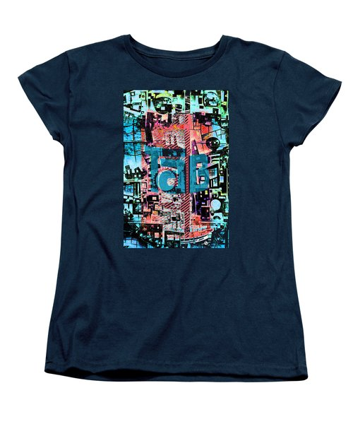 Women's T-Shirt (Standard Cut) featuring the mixed media A Million Colors One Calorie by Tony Rubino