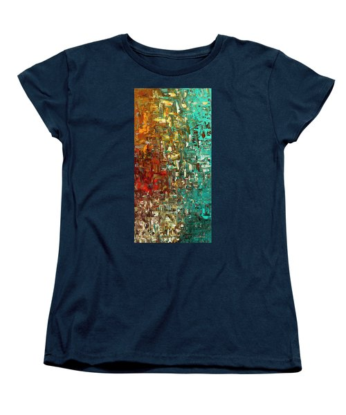 A Moment In Time - Abstract Art Women's T-Shirt (Standard Cut) by Carmen Guedez