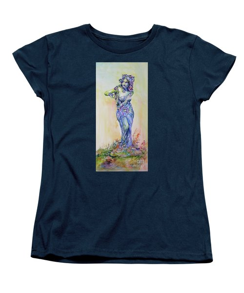 Women's T-Shirt (Standard Cut) featuring the painting A Moment In Time by Mary Haley-Rocks