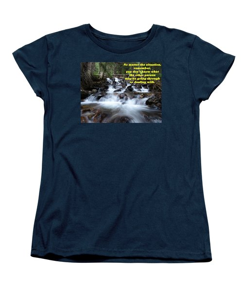 A Mountain Stream Situation 2 Women's T-Shirt (Standard Cut) by DeeLon Merritt