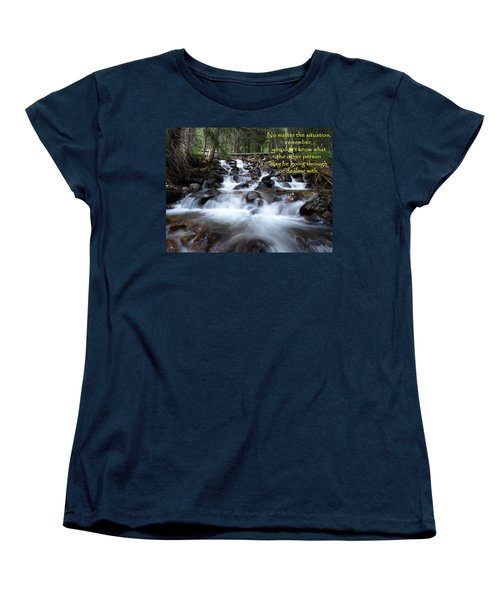 A Mountain Stream Situation Women's T-Shirt (Standard Cut) by DeeLon Merritt