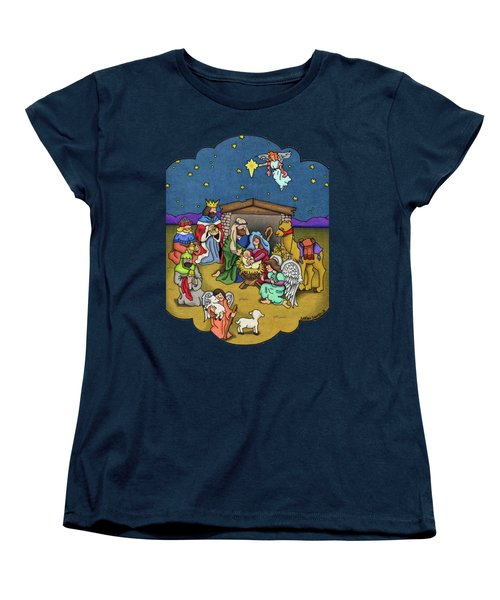 A Nativity Scene Women's T-Shirt (Standard Cut) by Sarah Batalka