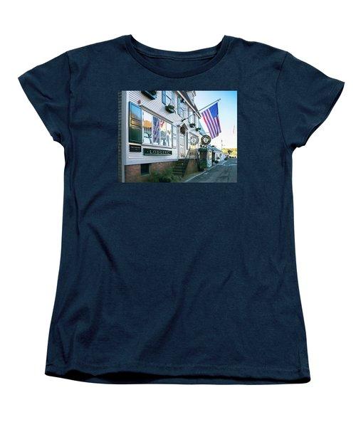 A Newport Wharf Women's T-Shirt (Standard Cut) by Nancy De Flon