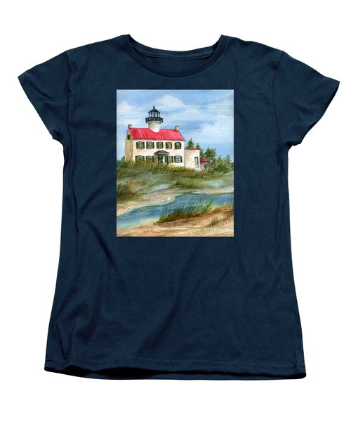 A Nice Day At The Point  Women's T-Shirt (Standard Cut) by Nancy Patterson