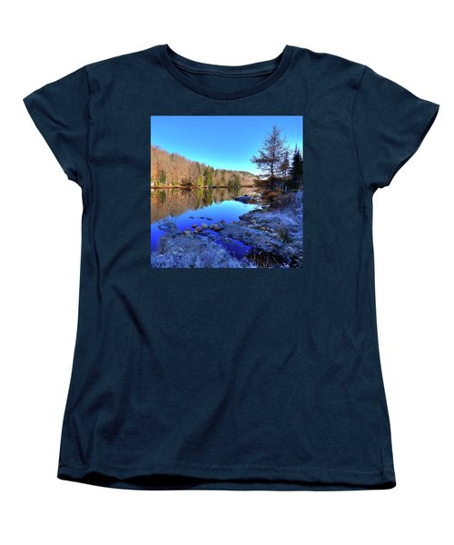 Women's T-Shirt (Standard Cut) featuring the photograph A November Morning On The Pond by David Patterson