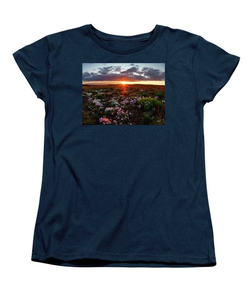 Women's T-Shirt (Standard Cut) featuring the photograph A Nuttalls Linanthastrum Morning by Leland D Howard
