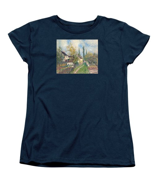 A Path At Les Sablons Women's T-Shirt (Standard Cut) by Alfred Sisley