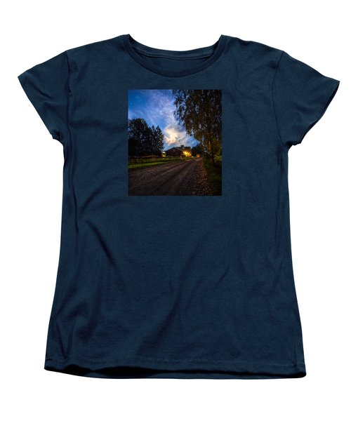 A Peaceful Evening Women's T-Shirt (Standard Cut) by Rose-Maries Pictures
