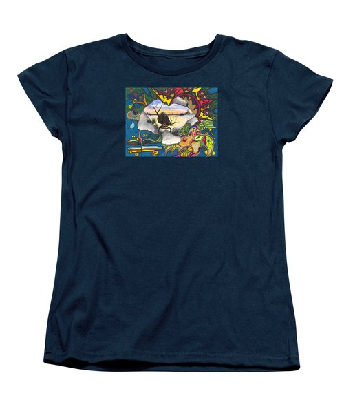 Women's T-Shirt (Standard Cut) featuring the painting A Punch Through by Darren Cannell