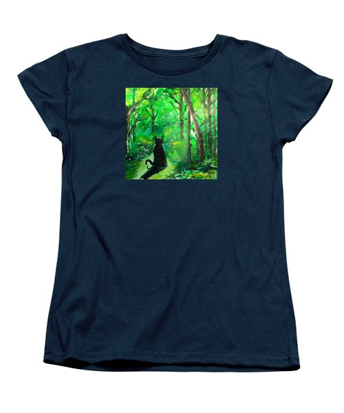 A Purrfect Day Women's T-Shirt (Standard Cut) by Seth Weaver