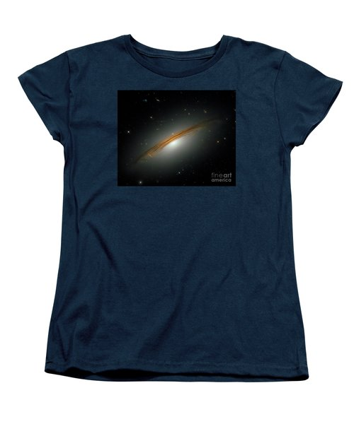 Women's T-Shirt (Standard Cut) featuring the photograph Fastest Spinning Galaxy by Nicholas Burningham