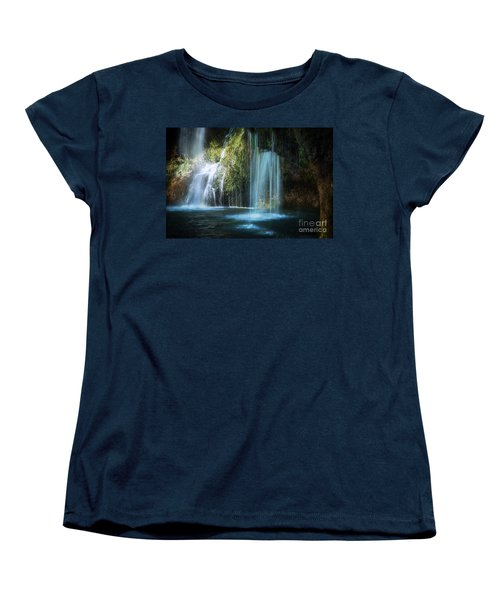 A Resting Place At Natural Falls Women's T-Shirt (Standard Cut) by Tamyra Ayles