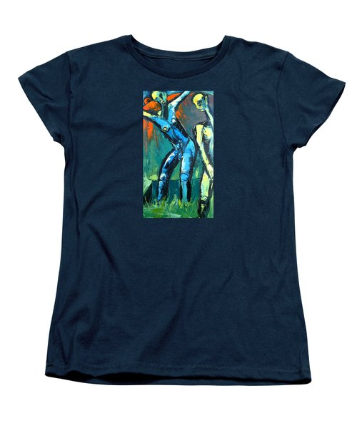 Women's T-Shirt (Standard Cut) featuring the painting A Resurrection by Kenneth Agnello