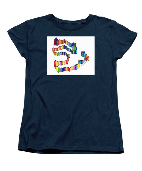 A Ribbon Of Color Women's T-Shirt (Standard Cut) by Paul Meinerth