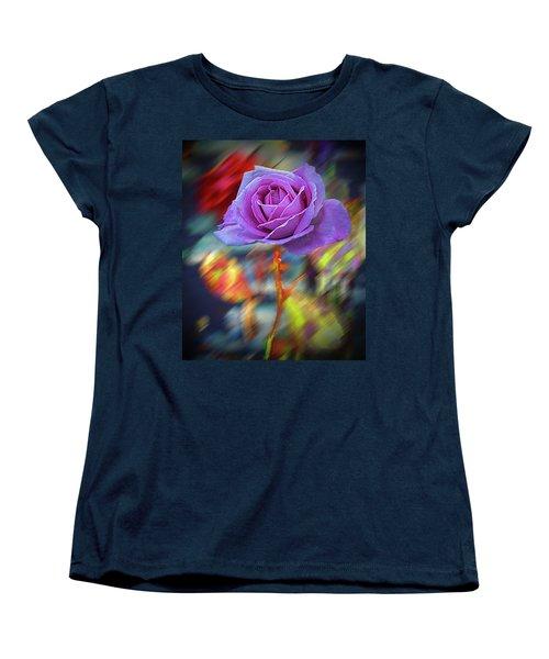 Women's T-Shirt (Standard Cut) featuring the photograph A Rose by Vladimir Kholostykh