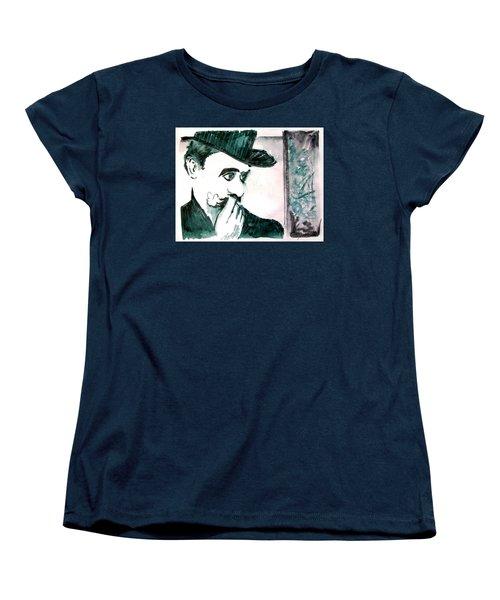 A Sad Portrait Of Chaplin Women's T-Shirt (Standard Cut) by Seth Weaver