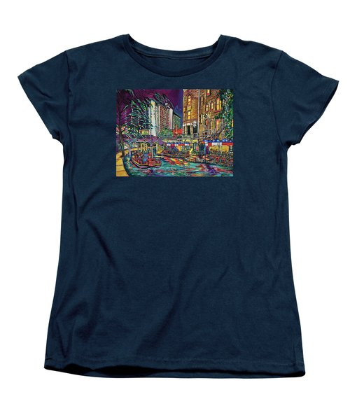 Women's T-Shirt (Standard Cut) featuring the painting A San Antonio Christmas by Patti Schermerhorn