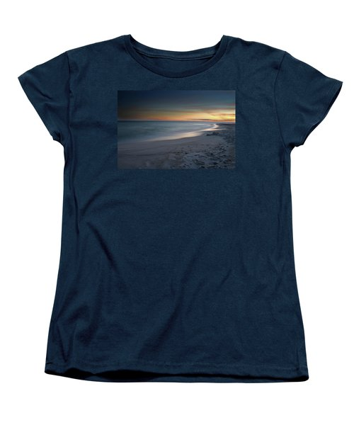 Women's T-Shirt (Standard Cut) featuring the photograph A Sandy Shoreline At Sunset by Renee Hardison