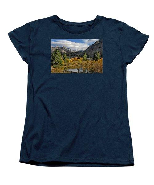 A Sierra Mountain View Women's T-Shirt (Standard Cut) by Dave Mills