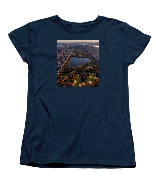 A Slice Of New York City  Women's T-Shirt (Standard Cut) by Anthony Fields