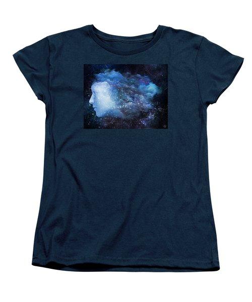 Women's T-Shirt (Standard Cut) featuring the digital art A Soul In The Sky by Gun Legler