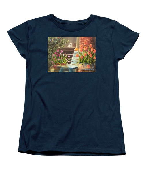 Women's T-Shirt (Standard Cut) featuring the painting A Special Place by Renate Nadi Wesley
