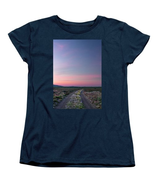 Women's T-Shirt (Standard Cut) featuring the photograph A Sunrise Path by Leland D Howard