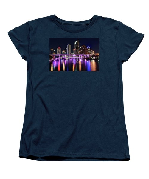 A Tampa Night Women's T-Shirt (Standard Cut) by Frozen in Time Fine Art Photography