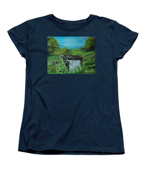 Women's T-Shirt (Standard Cut) featuring the painting A Tender Love by Leslie Allen