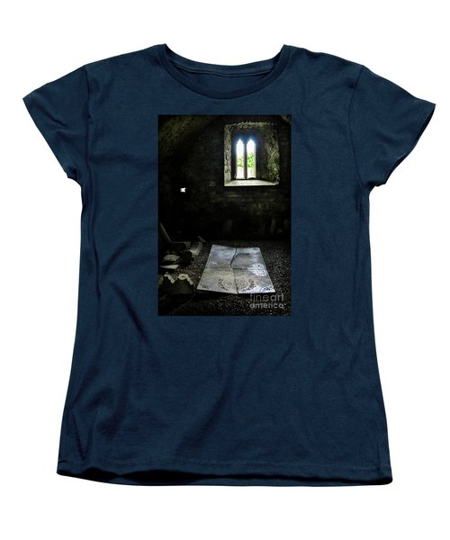 Women's T-Shirt (Standard Cut) featuring the photograph A Tombstone In Sligo Abbey by RicardMN Photography