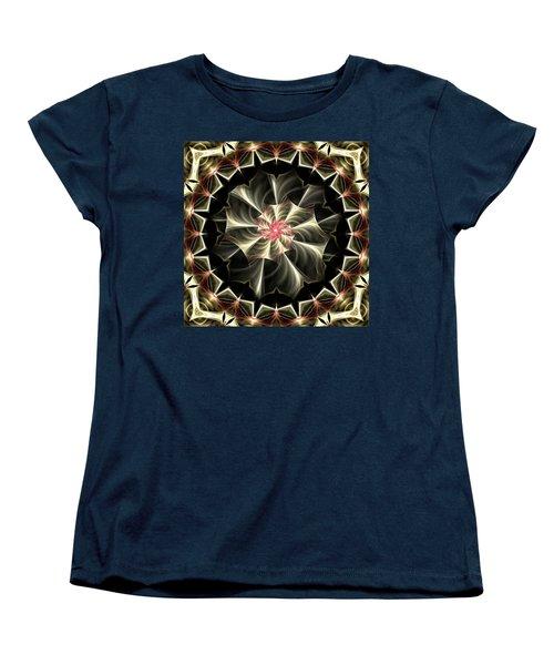 Women's T-Shirt (Standard Cut) featuring the digital art A Touch Of Pink by Lea Wiggins
