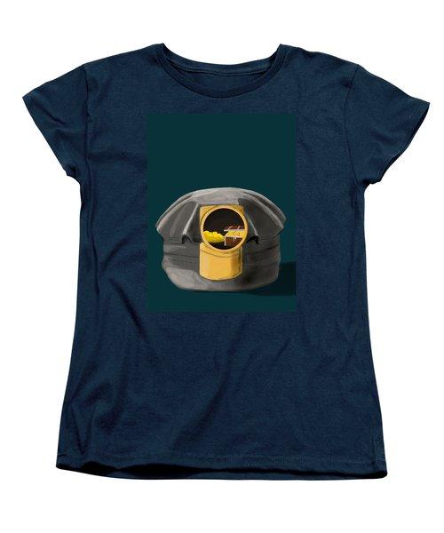 A Treasure Inside The Miners Helmet Women's T-Shirt (Standard Cut) by Keshava Shukla
