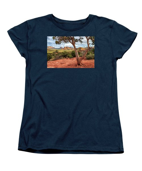 Women's T-Shirt (Standard Cut) featuring the photograph A Tree In Sedona by James Eddy